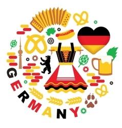 Oktoberfest Germany elements vector image