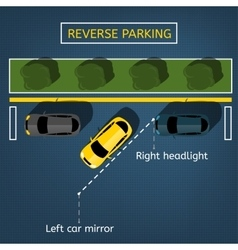 Parking lot top view vector