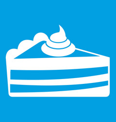 Piece of cake icon white vector