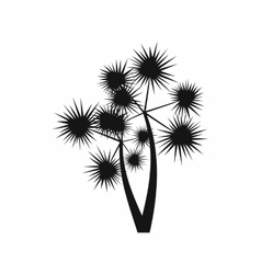 Prickly palm icon simple style vector