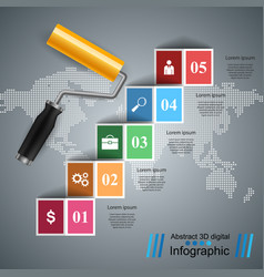 roller painth icon business infographics vector image vector image