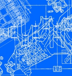 technical drawing background vector image