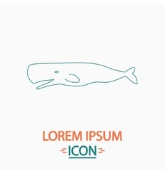 Whale computer symbol vector