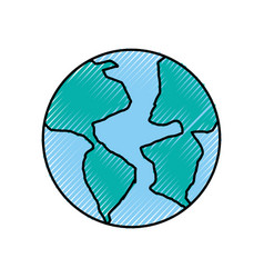 World planet earth icon vector