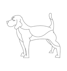 Beagle dog in line vector