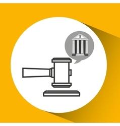 Bank concept safe money justice icon vector