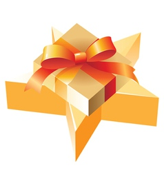 Gift and star vector image