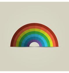 Paper rainbow vector image