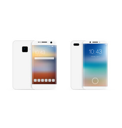 3d realistic smartphone mobile phone vector image