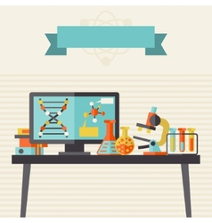 Science concept in flat design style vector