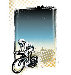 Cycling poster background vector
