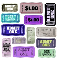 Admission tickets set vector