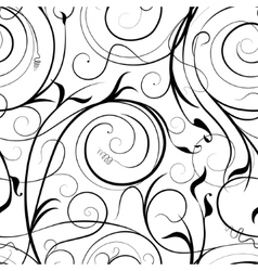 Swirling plant pattern vector