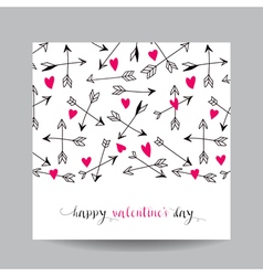 Love Card with Arrows - Wedding Valentines Day vector image