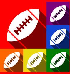 American simple football ball set of vector