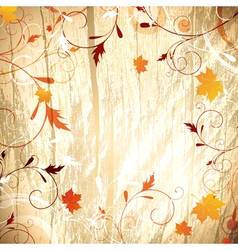 Autumn wooden background vector image vector image