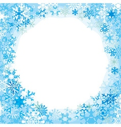 border from colored snowflakes vector image vector image