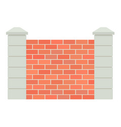 Brick fence icon cartoon style icon vector
