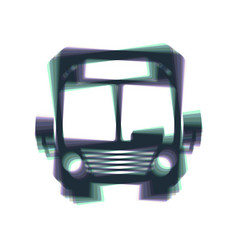 Bus sign colorful icon vector