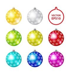 Color Christmas Balls vector image