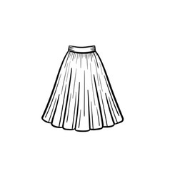 dress hand drawn sketch icon vector image