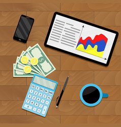 Finance process planning budget vector