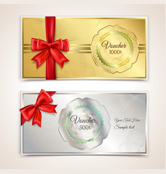 Gift vouchers template vector image