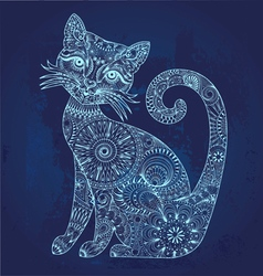 glowing cat vector image vector image