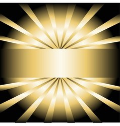 Golden rays background with place for your text vector image vector image