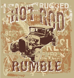 hot rod rumble vector image vector image