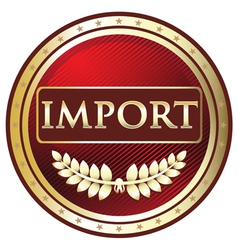 Import Red Label vector image vector image