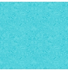 Mint Line SEO Seamless Pattern vector image