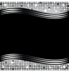 mosaic background black vector image vector image