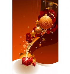 new year gift vector image