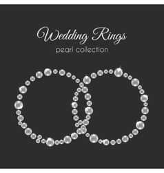 Pearl rings frame in circle shape white vector