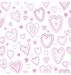 Seamless pattern with valentine hearts vector image vector image