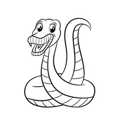 snake coloring book vector image