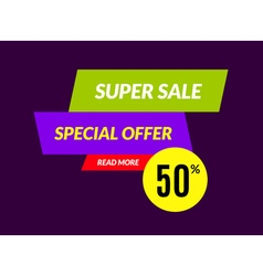 Super sale banner design template best offer vector