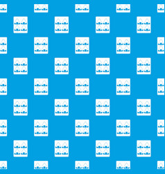Sushi pattern seamless blue vector