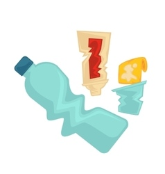 symbol of plastic garbage or trash vector image vector image