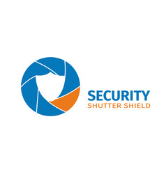 The logo of the company of video surveillance vector