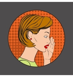 The Woman whispering a secret vector image