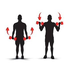 training silhouettes example vector image vector image