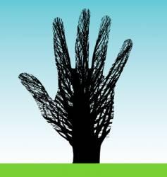 Tree hand vector