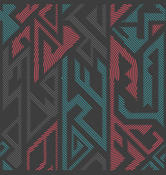 urban color geometric seamless pattern vector image