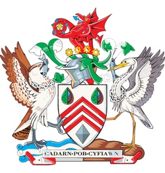 West Glamorgan county vector image