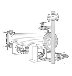 wire-frame industrial equipment vector image vector image