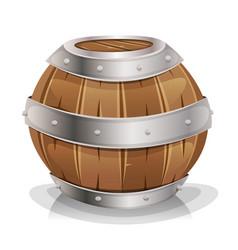 Wood barrel vector