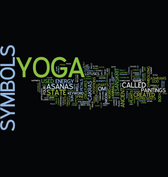 Yoga symbols text background word cloud concept vector