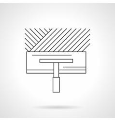 Floor installing flat line icon vector